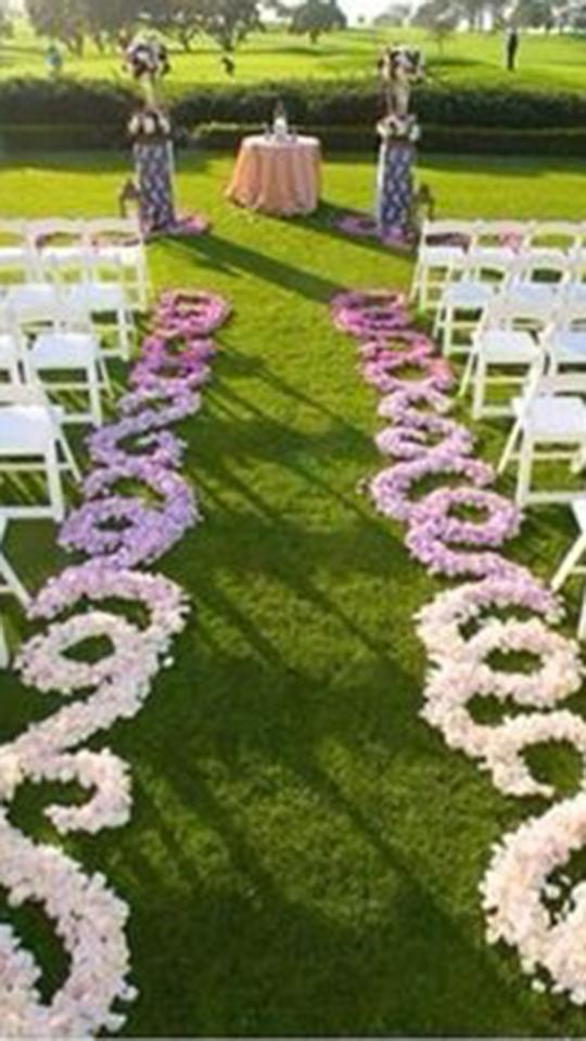 Aisle petal treatment | Wedding & Event Florist | Phoenix, Arizona ...
